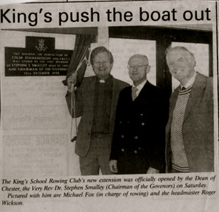 Opening of the new boathouse. 15 Dec 1990
