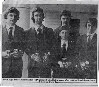 J16 IV winners at Shrewsbury 1978
