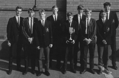 1st VIII 1968, outside Sir John Deane's Grammar School (having won NW Youth Championships)