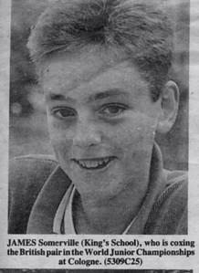 James Somerville, World Junior Championships: Cologne 1987