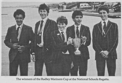 J15 IV: Winners Radley Mariners Cup, NSR 1983