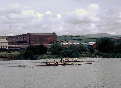 "A change of ambiance: Lancaster Regatta July 1970. ""Thick Pairs"" - Royal Chester v. Runcorn."
