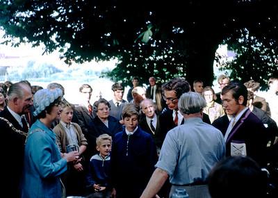 The prizegiving.  J. Lowe (cox), Charles Warburton, David Wilkes 1970