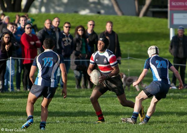 Scots College vs. Aotea College, Scots College, Wellington, 9 June 2012