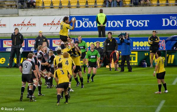 Hurricanes vs. Sharks, Westpac Stadium, Wellington, 24 March 2006