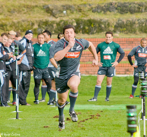 All Blacks in Training for Springboks Test, Rugby League Park, Wellington, 18 July 2006