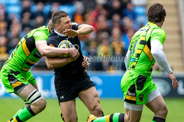 29th April 2018, Wasps vs Northampton Saints, AVIVA  Premiership, Ricoh Arena, Coventry