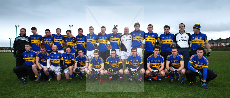260113  2013 Munster GAA McGrath Football Final  Tipperary v Kerry . The Tipperary Football team before their game against Kerry  played in Tipperary Town. Photo Andy Jay.