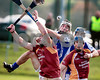 171113 The Munster Club Intermediate Hurling Championship Final Ballina v Youghal. Ballina's  Thomas Collins pushes for possession during Sunday's Final played in Mallow, Cork. Photo Andy Jay.