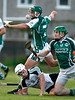 EEjob 24/06/2017 SPORT GAA IHC  Douglas v Ballincollig in Church Road.    Ross Howell Douglas comes to ground after battling with Ballincollig's Mark Prendergast and Shane Murphy.  Picture: Andy Jay