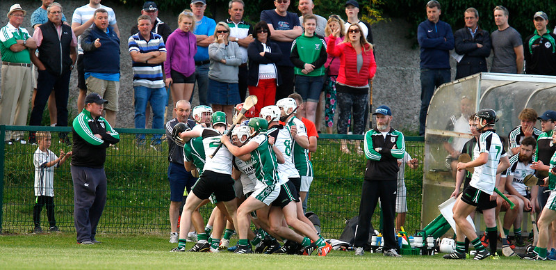 EEjob 24/06/2017 SPORT GAA IHC  Douglas v Ballincollig in Church Road.  Tensions rise during Saturday's IHC game between Ballincollig and Douglas.  Picture: Andy Jay