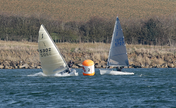 Fun at the gybe mark, race 1