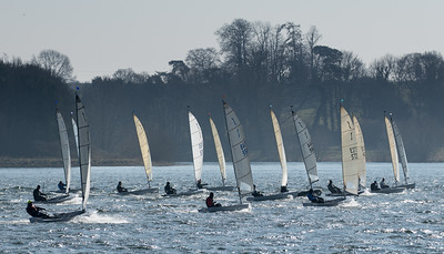 Nearing the end of the second reach in race 2