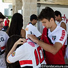 Rodrigo Cao of Sao Paulo - Brazil, signs a shirt after a training session in Orlando - 17 June 2014 (Photographer: Nigel Worrall)