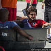 Alexandre Pato (Sao Paulo) sits in the ice bath after a training session in Orlando - 17 June 2014 (Photographer: Nigel Worrall)