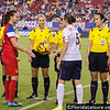 Lauren Holiday (red) - U.S. Women's Soccer Team vs. Sabrina Delannoy (5) France, Raymond James Stadium, Tampa - 14 June 2014 (Photographer: Nigel Worrall)