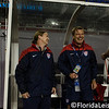 Jill Ellis - Head Coach (left) and Tony Gustavsson (middle) - U.S. Women's Soccer Team vs. France, Raymond James Stadium, Tampa - 14 June 2014 (Photographer: Nigel Worrall)