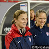 Jill Ellis (left) - U.S. Women's Soccer Team vs. France, Raymond James Stadium, Tampa - 14 June 2014 (Photographer: Nigel Worrall)
