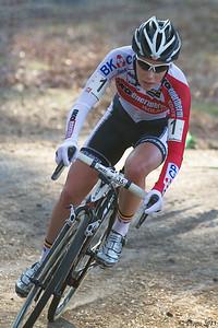 Sanne Cant op weg naar het kampioenschap elite dames in Mol.