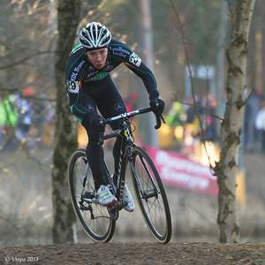 Laurens Sweeck op weg naar het kampioenschap beloften in Mol.