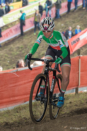 Eva Lechner, winnares in Valkenburg.