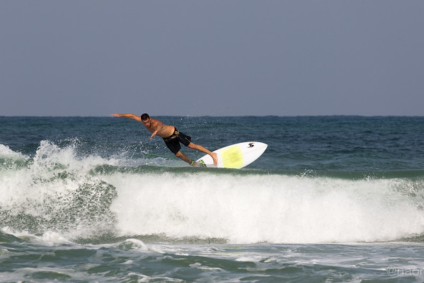 Surfers  in Netanya