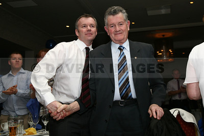 Jimmy Hatton gets up to collect a Hall of Fame Award at the Garden County GAA Awards (January 2010)