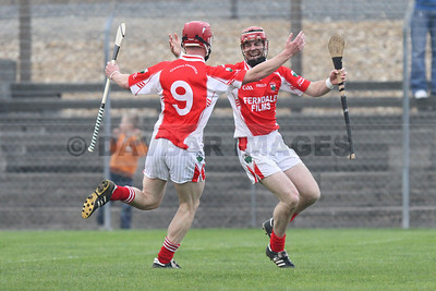 Glenealy celebrate a goal in the 2010 Senior Hurling Championship Final (October 2010)