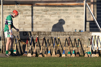 Mikey Lee from Bray Emmets chooses a hurley (November 2009)