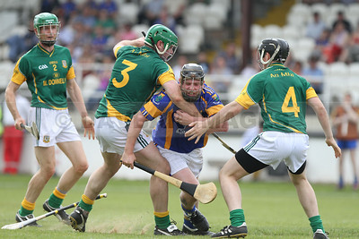 Andy O'Brien takes on all of the Meath full-back line in the Christy Ring Cup (May 2010)