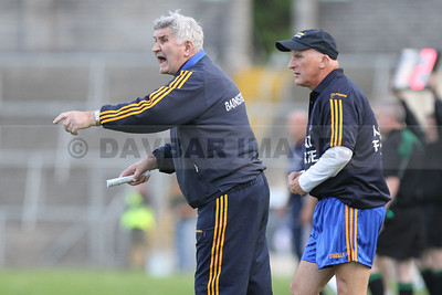 Mick O'Dwyer getting agitated on the line in the All-Ireland Qualifier match against Cavan (June 2010)