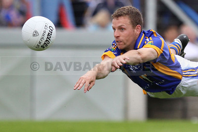 Paul Earls tries to guide the ball into the net in the  All-Ireland Qaualifier match against Kildare (July 2009)