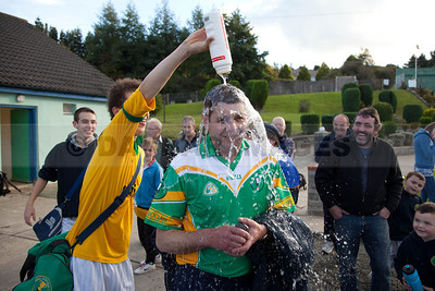 St. Nicholas selector Tadgh Metcalfe gets a shower (October 2010)
