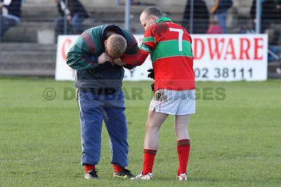 Declan Byrne chews on Stephen Byrrne (November 2009)