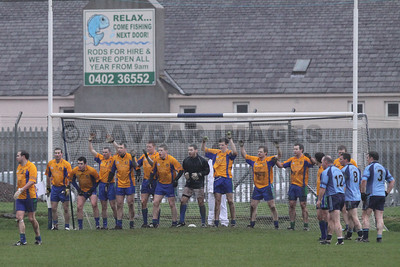 AGB line the goal to prevent a late Shillelagh goal in the Relegation Play-Off (December 2009)