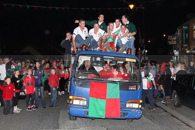 Rathnew celebrate a Miley Cup success in the Village  (October 2010)