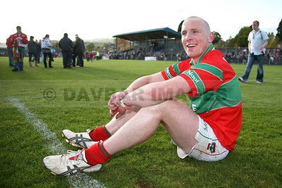 Rathnew captain Stephen Byrne has a moment to himself after the Senior Football Final (October 2009)