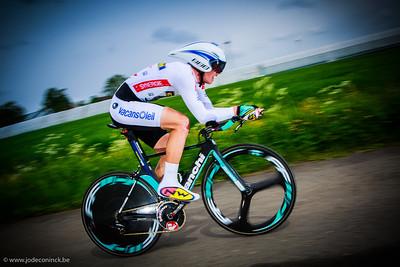 Ronde van België, tijdrit Beveren. Van Poppel