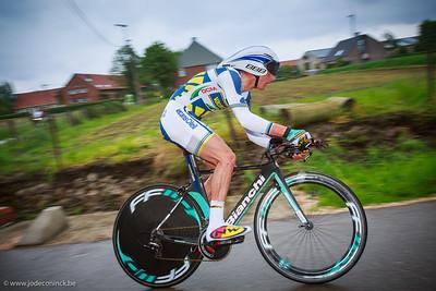 Ronde van België, tijdrit Beveren. Johnny Hoogerland