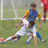 "Eastern Suburbs' Charles Spragg, front, shields the ball from Southern United's Blake Porteous, rear, in the National Youth League football match, Peter Johnstone Park, Mosgiel, New Zealand, Saturday, November 19, 2016. © Copyright photo: Adam Binns /  <a href=""http://www.photosport.nz"">http://www.photosport.nz</a>"