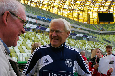 Morten Olsen, head coach of the Danish national football team, Gdansk, Poland