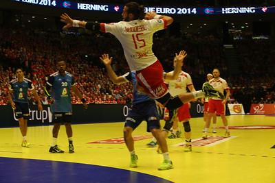 Nøddesbo, Denmark France, match men's EHF EURO 2014, Århus, Denmark