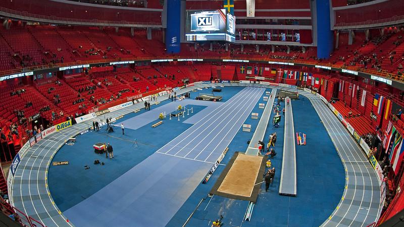Indoor track & field, Globen Stockholm, Sweden