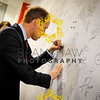 SGP,The Duke of Cambridge, President of the Football Association visit to St George's Park to meet the  England Women team before they leave for Canada on 25th May.Signing the Autograph Wall