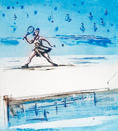 Tennisdronning, 2016, 1500,-