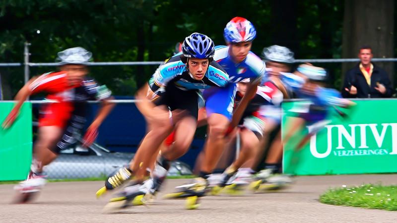 Inline skating competition Herde Netherlands