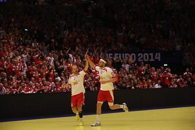 Mikkel Hansen and Eggert Magnussen EHF EURO, 2014, Århus, Denmark