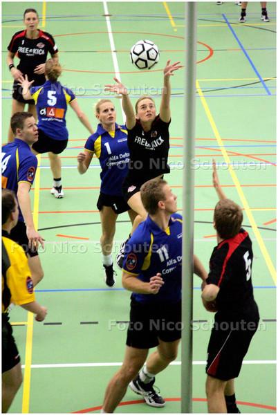 AD/HC - Korfbalwedstrijd KVS-Koog Zaandijk - DEN HAAG 19 DECEMBER 2007 - FOTO NICO SCHOUTEN