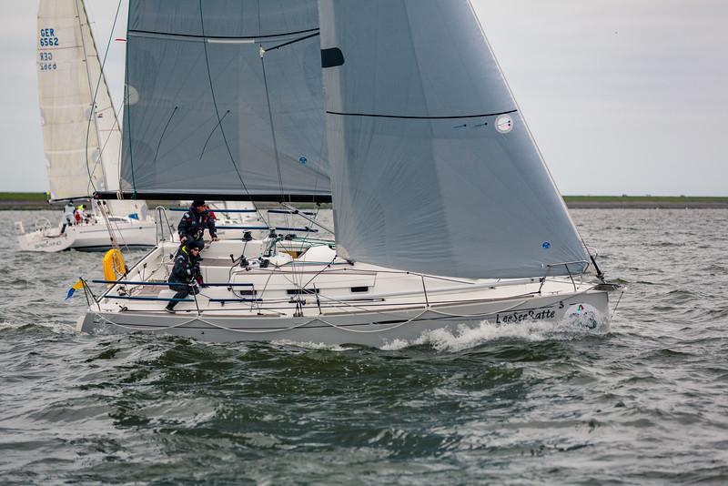 NWRcup2015 in Lelystad. LeeSeeRatte sailing dualhanded on the IJsselmeer near Lelystad in The Netherlands