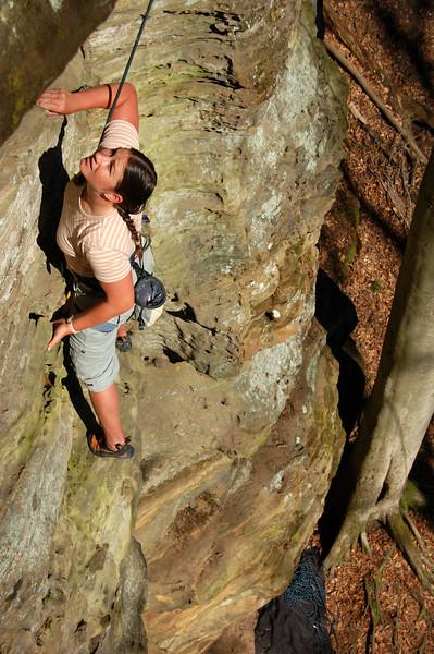 Climbing Amazing Grace.